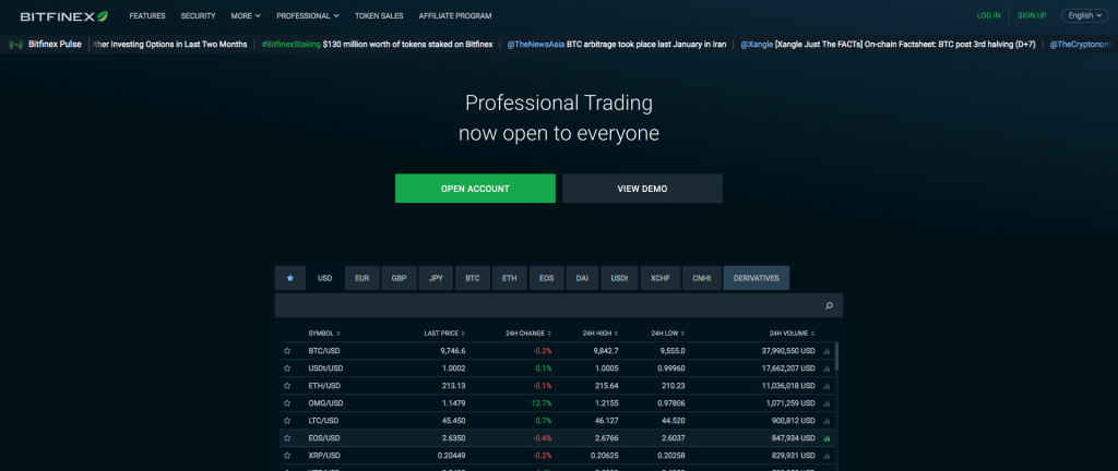 bitfinex cryptocurrency exchange