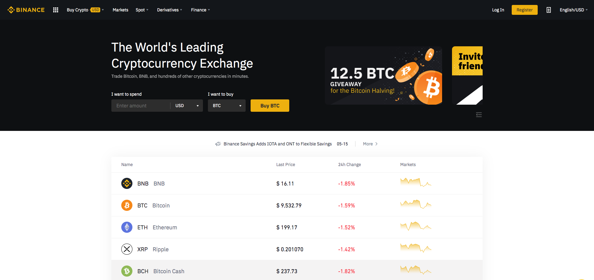 binance cryptocurrency and bitcoin exchange